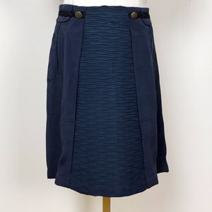 Anthropologie | Girls From Savoy Navy Skirt